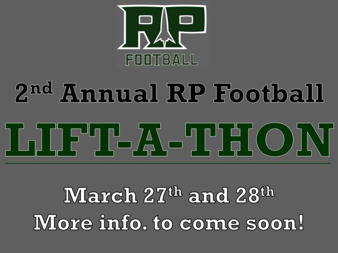 2nd Annual RP Football LIFT-A-THON