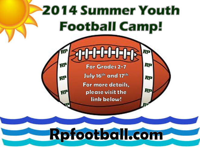 Reeths-Puffer Football Youth Camp July 16 and 17